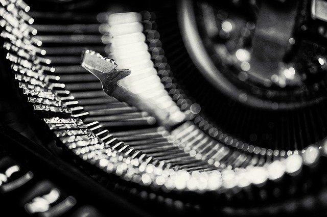 Typewriter keys image